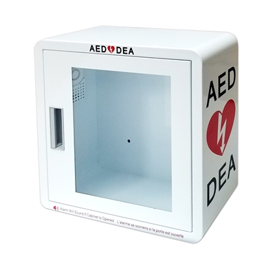 AED WALL CABINET - SURFACE MOUNT WITH ALARM SECURITY ENABLED