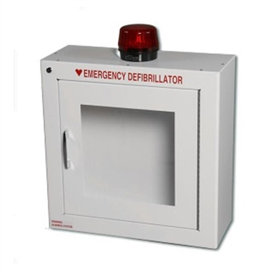 AED WALL CABINET - SURFACE MOUNT WITH ALARM & STROBE SECURITY ENABLED