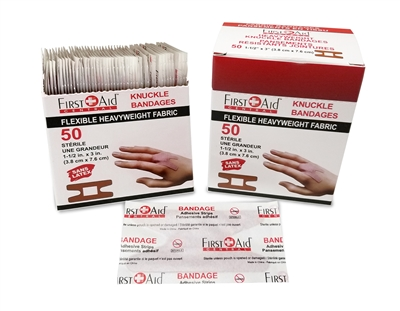 HEAVY Weight Fabric Adhesive Bandages Knuckle (box of 50)