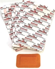 "Light weight Fabric Adhesive Bandages 2"" x 3"" Patch"