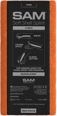 "SAM Soft Shell Splint 9"" - SAM Medical"