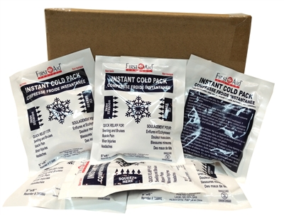 "Instant Cold Compress 4"" x 5"" (Box of 50)"