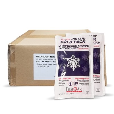 "Instant Cold Compress 5"" x 9"" (Box of 24)"