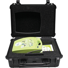 Small Pelican Case with cut-outs for ZOLL AED Plus
