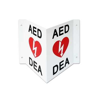 AED 3D Bilingual wall sign