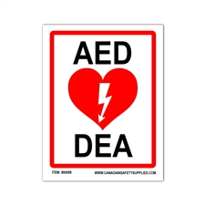 AED Large Sticker PVC (17x22cm)