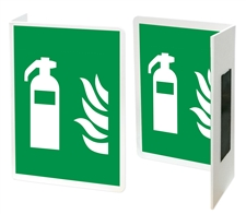 "Projecting Safety Sign ""L"" shape - Fire Extinguisher"