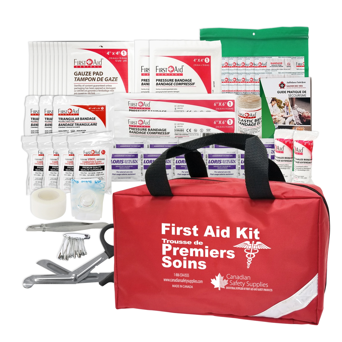 Injuries can happen so make sure to keep a first-aid kit in your car.