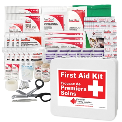 Alberta #2 Regulation First Aid Kit, customizable with YOUR LOGO!