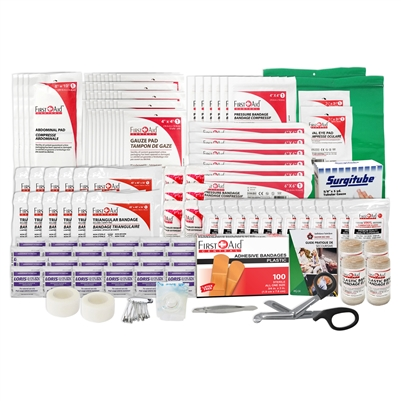 Alberta # 3 First Aid Provincial Regulation refill kit for 50 + employees.