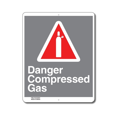 DANGER COMPRESSED GAS - CSA SIGN