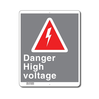 DANGER HIGH VOLTAGE - CSA SIGN