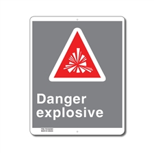 DANGER EXPLOSIVE - CSA SIGN