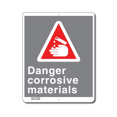DANGER CORROSIVE MATERIALS - CSA SIGN