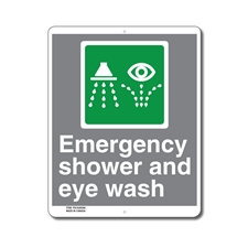EMERGENCY SHOWER AND EYE WASH - CSA SIGN