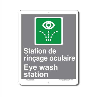 STATION DE RINCAGE OCULAIRE - EMERGENCY EYE WASH STATION - CSA SIGN