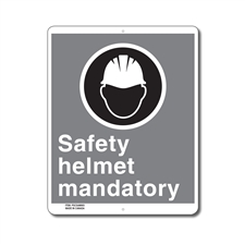 SAFETY HELMET MANDATORY - CSA SIGN