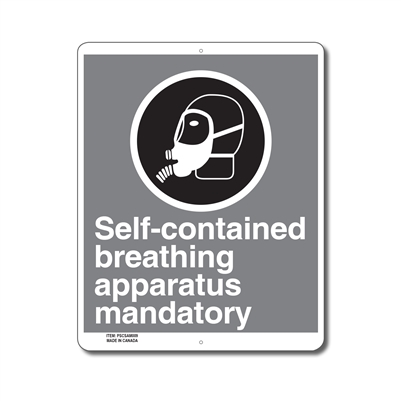 SELF-CONTAINED BREATHING APPARATUS MANDATORY - CSA SIGN