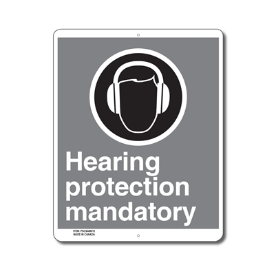 HEARING PROTECTION MANDATORY - CSA SIGN
