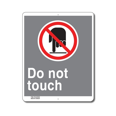 DO NOT TOUCH - CSA SIGN