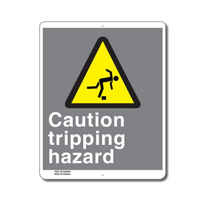 CAUTION TRIPPING HAZARD - CSA SIGN