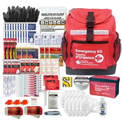 3 Person 72 hour Emergency Survival Kit with Water