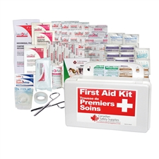 personal first aid kit in plastic case