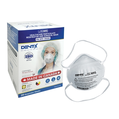 N95 Particulate Respirator Molded Masks - Made in Canada - Box of 20