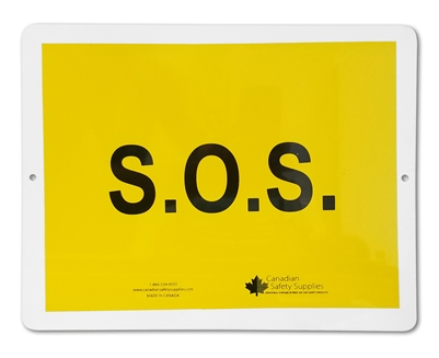 Plastic Sign S.O.S.