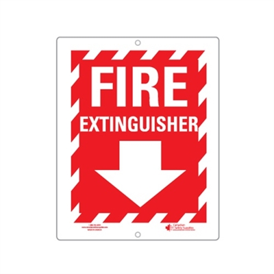 "Plastic Sign ""Fire Extinguisher + Arrow"""