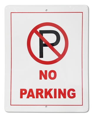 "Plastic Sign ""No Parking"""