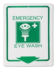 "Plastic Sign ""Emergency Eye Wash"""