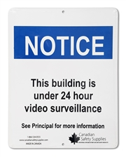 "Plastic Sign ""NOTICE: video surveillance"""