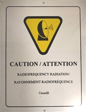"Plastic Sign ""Caution: Radio frequency Radiation"""