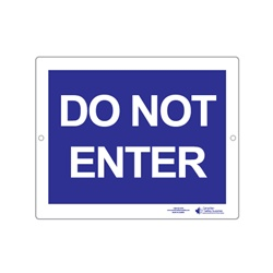 "Plastic Sign ""DO NOT ENTER"""