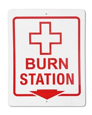 "Plastic Sign ""BURN STATION"""
