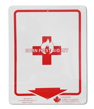 "Plastic Sign ""BURN FIRST AID KIT"""