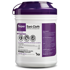 Super XL Sani-Cloth Germicidal Disposable Wipe canister (65 wipes)