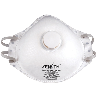 N95 Particulate Respirators Mask with Valve - NIOSH Approved