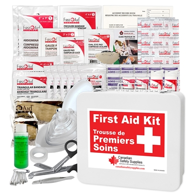 Saskatchewan 1 - 9 Employees First Aid Kit Minimum Requirements
