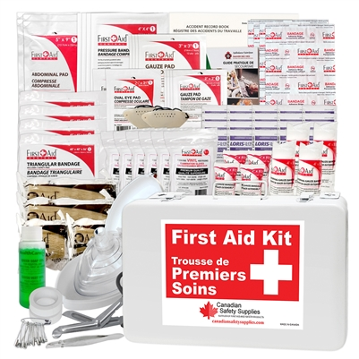 Saskatchewan  10 - 40 Employees First Aid Kit Minimum Requirements