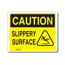 SLIPPERY SURFACE - CAUTION SIGN