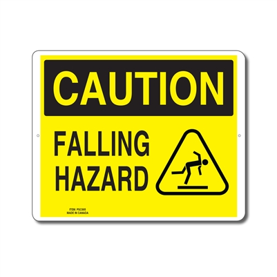 FALLING HAZARD - CAUTION SIGN