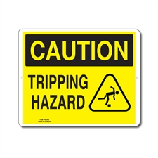 TRIPPING HAZARD - CAUTION SIGN