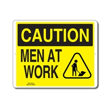 MEN AT WORK - CAUTION SIGN