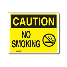 NO SMOKING - CAUTION SIGN