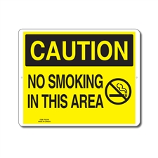 NO SMOKING IN THIS AREA - CAUTION SIGN