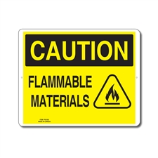 FLAMMABLE MATERIALS - CAUTION SIGN