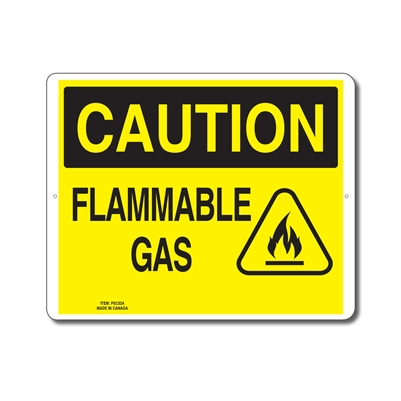 FLAMMABLE GAS - CAUTION SIGN