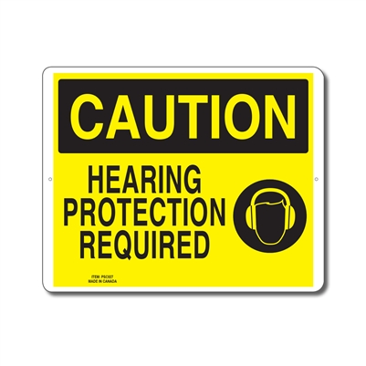 HEARING PROTECTION REQUIRED - CAUTION SIGN